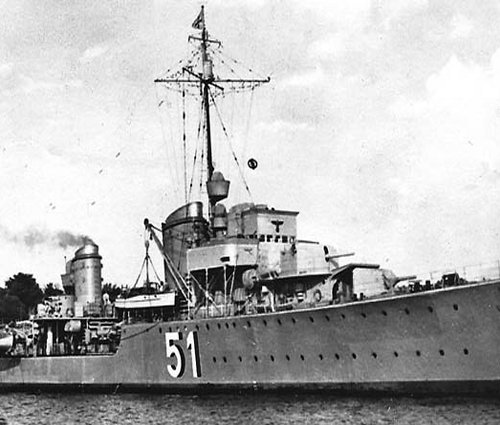 Z17 Diether von Roeder Destroyer
