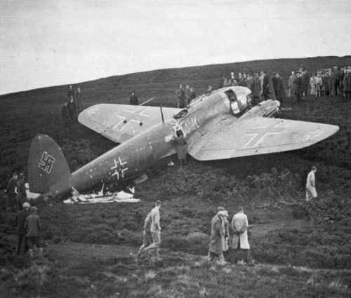 Heinkel He 111 shot down picture 1